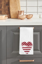 Usa Heart Kitchen Towel By OBC