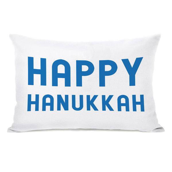 Bold Hppy Hanukkah Throw Pillow by OBC
