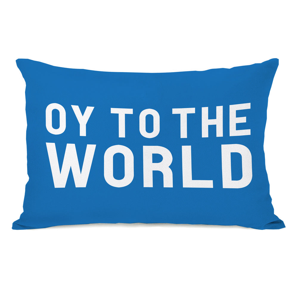 Bold Oy To The World Throw Pillow by OBC