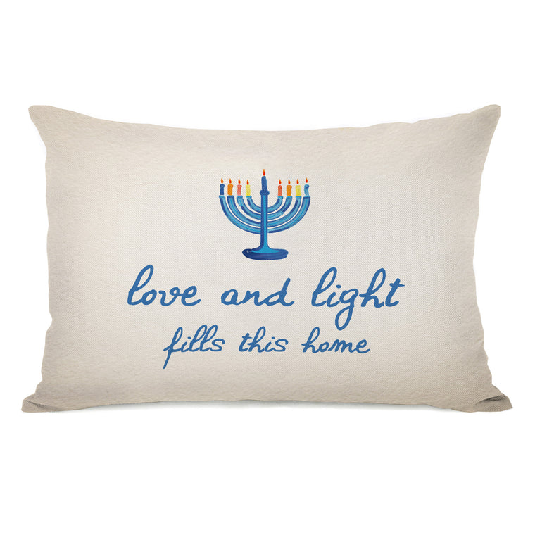 Love And Light Throw Pillow by OBC