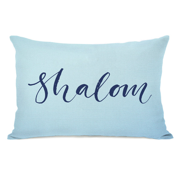 Shalom Throw Pillow by OBC