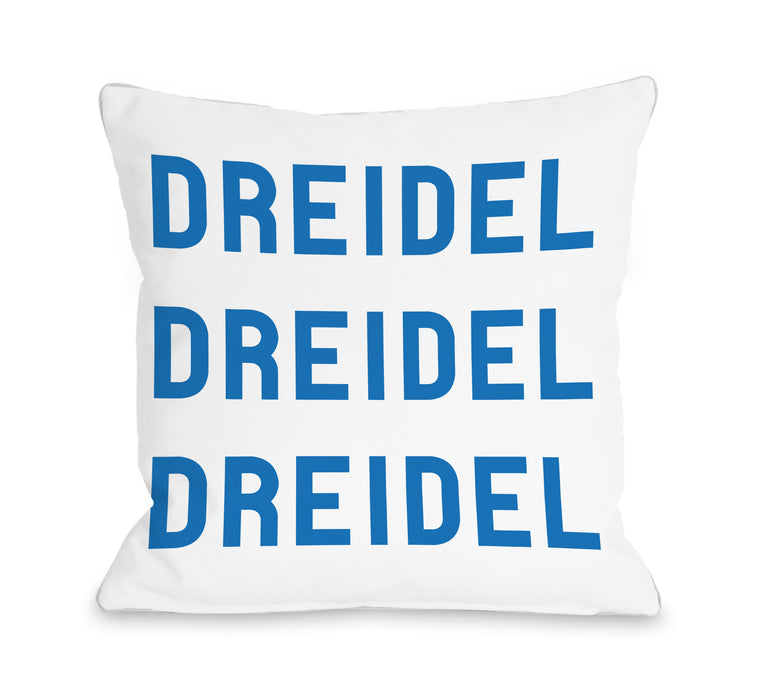 Bold Dreidel Throw Pillow by OBC