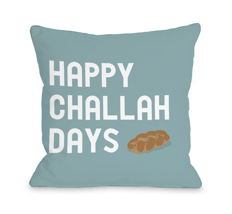 Happy Challah Days Throw Pillow by OBC