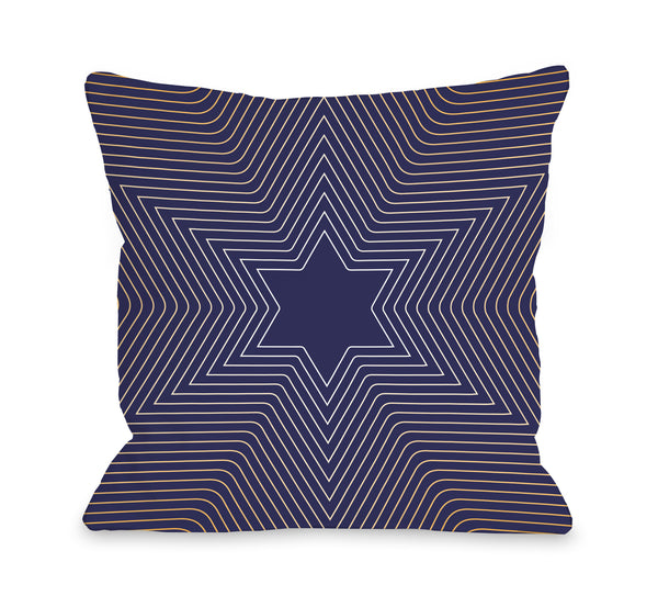 Star Of David Throw Pillow by OBC