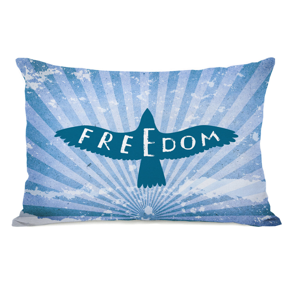 Freedom Bird Throw Pillow by OBC