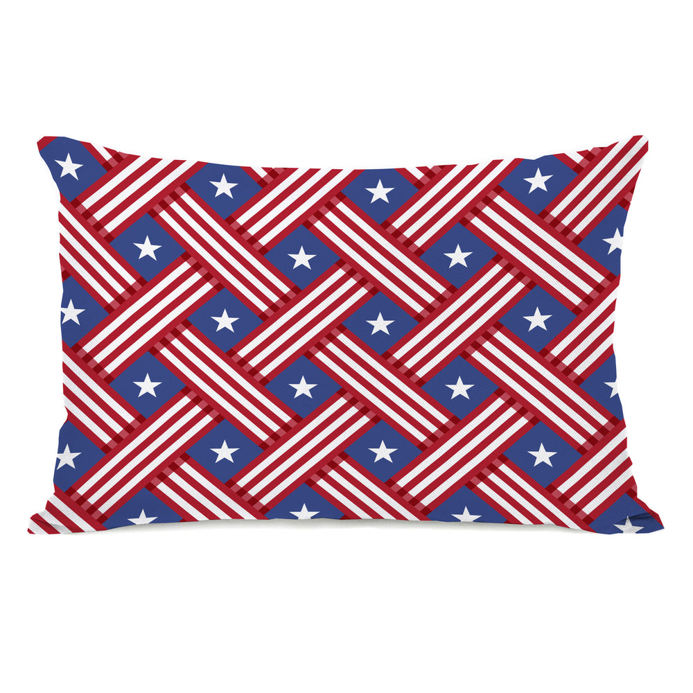 Patriot Pattern Throw Pillow by OBC