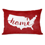 USA Map Home Throw Pillow by OBC