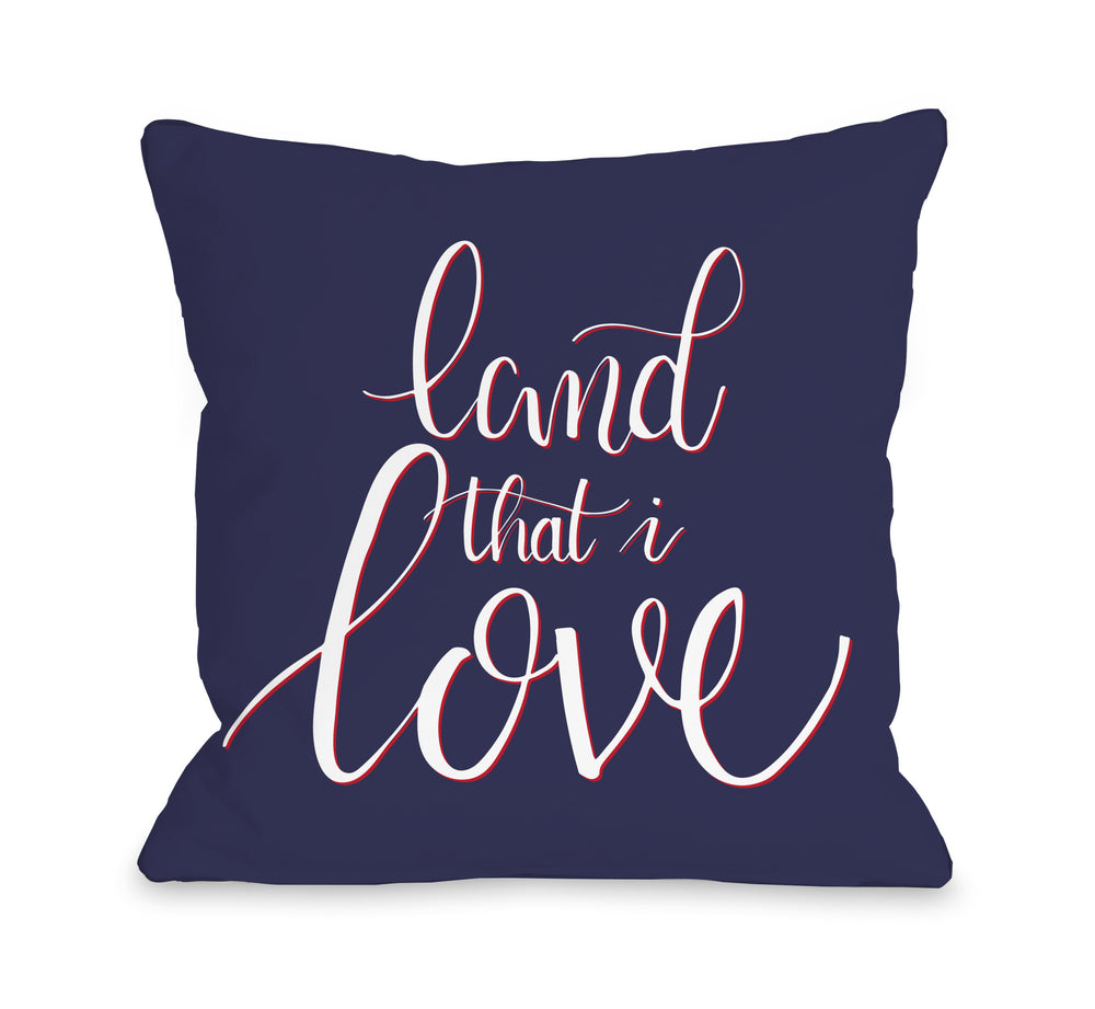 Land That I Love Throw Pillow by OBC