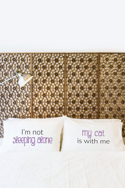 Sleeping Alone Cat Pillowcase by OBC