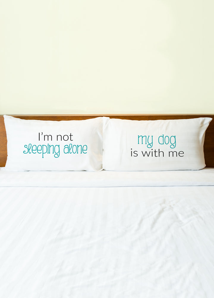 Sleeping Alone Dog Pillowcase Set By OBC