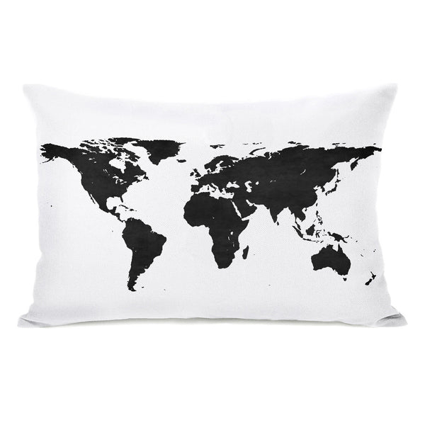 Classic Map Throw Pillow by OBC