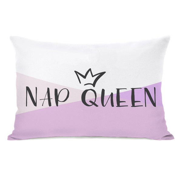 Nap Queen Throw Pillow by OBC