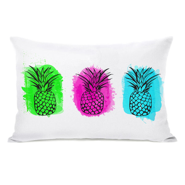 Rainbow Pines Throw Pillow by OBC