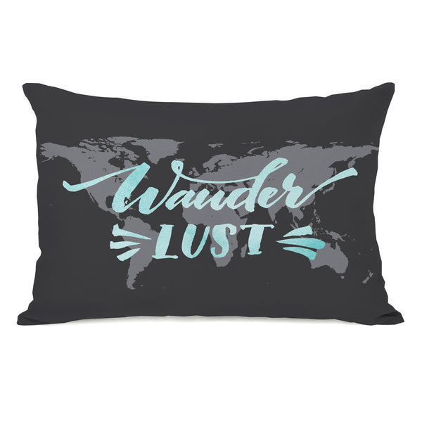 Wander Lust Map Throw Pillow by OBC