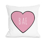 Convo Heart Bae Throw Pillow by OBC