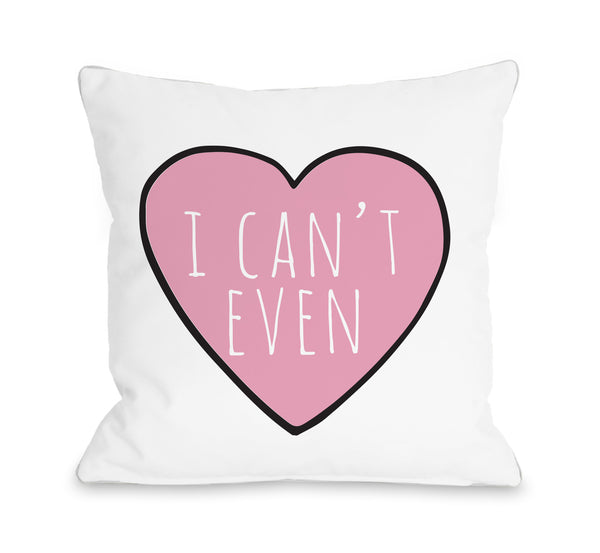 Convo Heart I Cant Even Throw Pillow by OBC