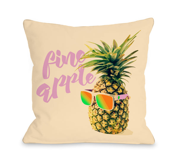 Fineapple Sunglasses Throw Pillow by OBC