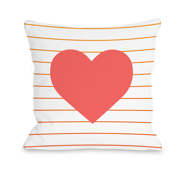 Jamie Heart Throw Pillow by OBC