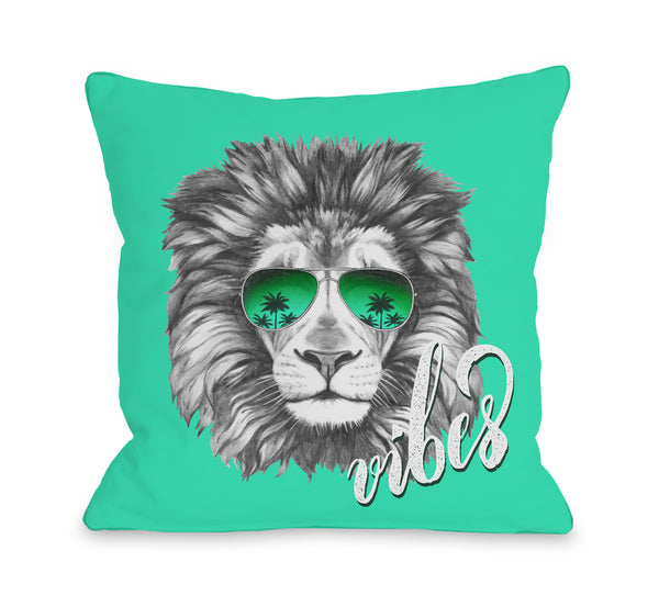 Lion Vibes Throw Pillow by OBC