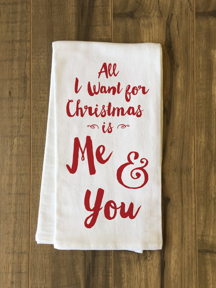 Christmas Me And You - Red Tea Towel by OBC