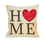 Home Heart Throw Pillow by OBC