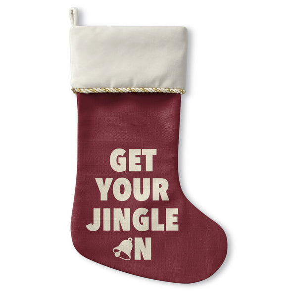 Get Your Jingle On - Cream Christmas Stocking by OBC