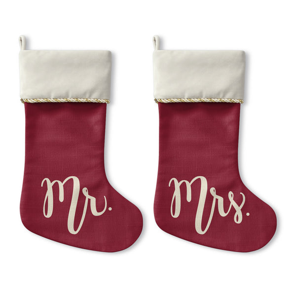 Mister Misses - Cream Christmas Stocking by OBC