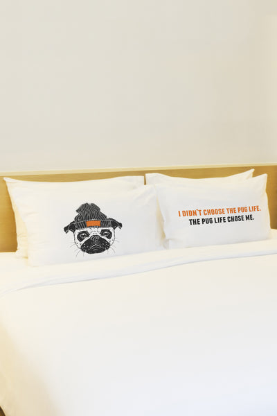 Pug Life Gray Org Pillowcase by OBC