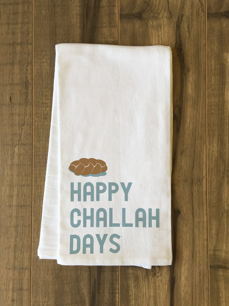 Happy Challah Days Kitchen Towel by OBC