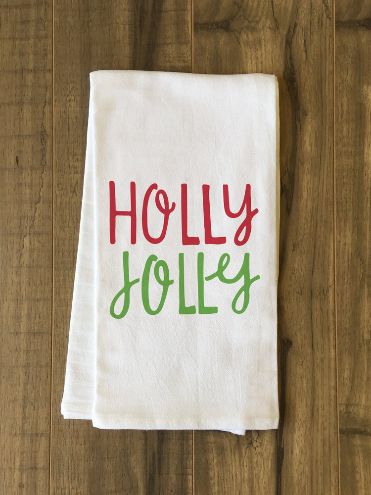 Holly Jolly Fun - Multi Tea Towel by OBC