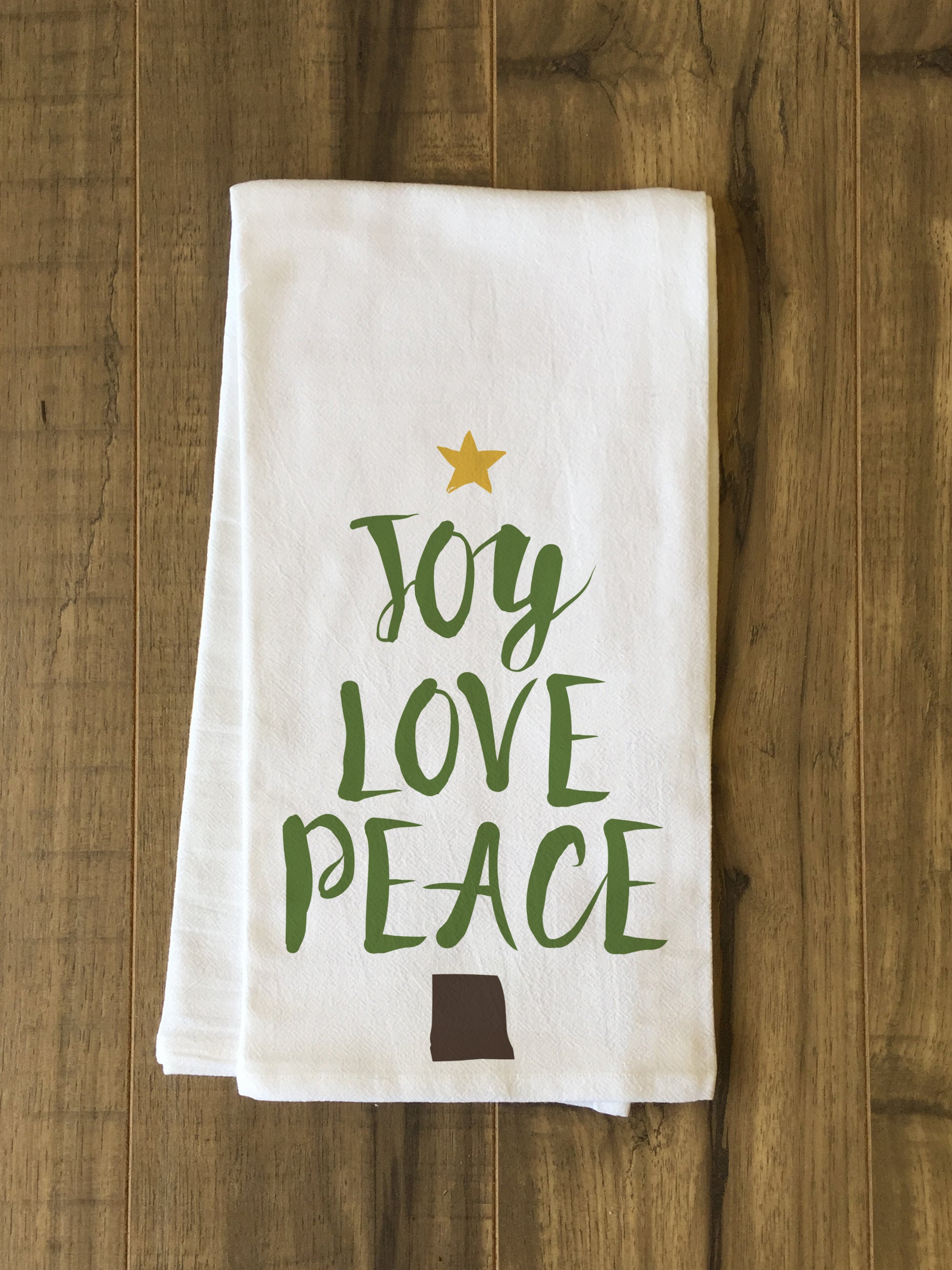 Joy Love Peave Tree Star Multi Tea Towel By Obc