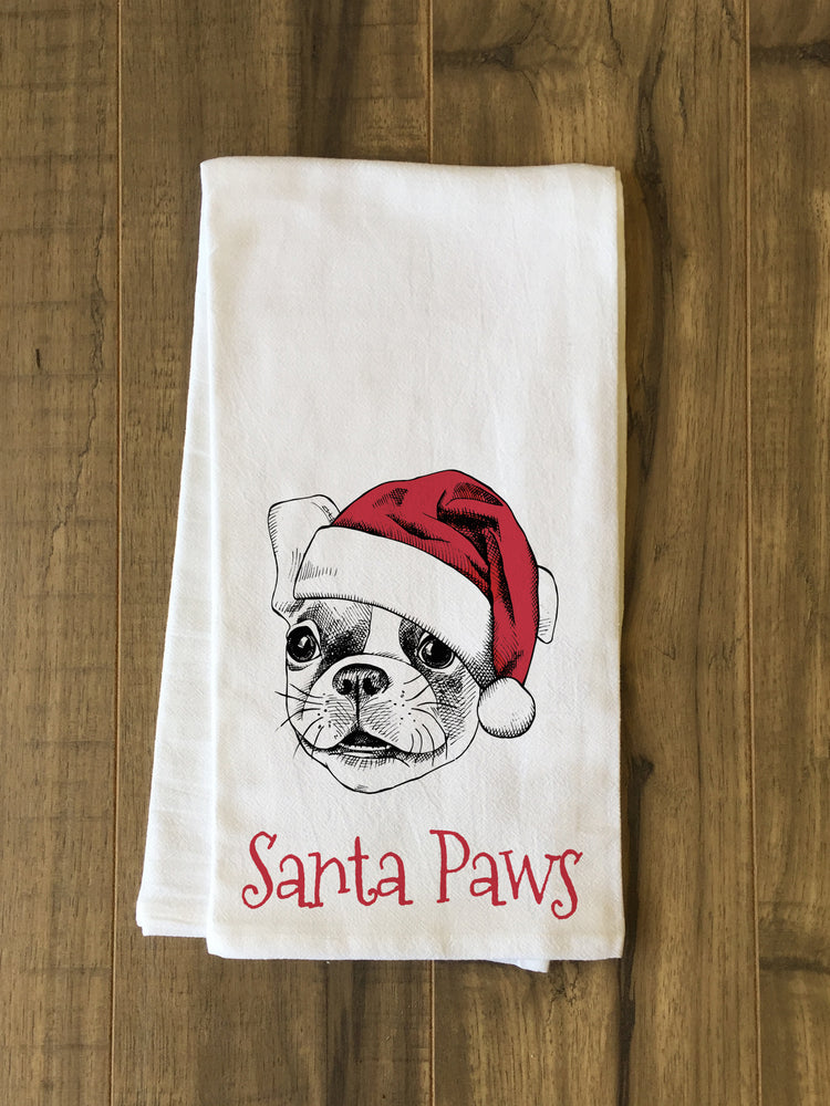 Santa Paws - Red Tea Towel by OBC