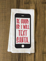 Text Santa - Red Tea Towel by OBC