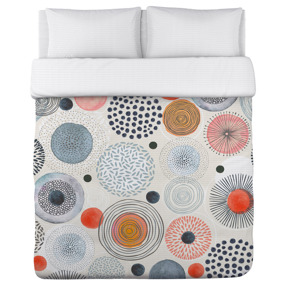 Amy Navy - Multi Lightweight Duvet Cover by OBC