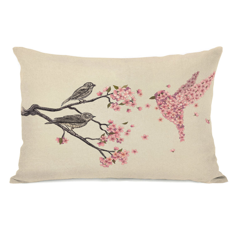 Blossom Bird - Multi Throw Pillow by Terry Fan