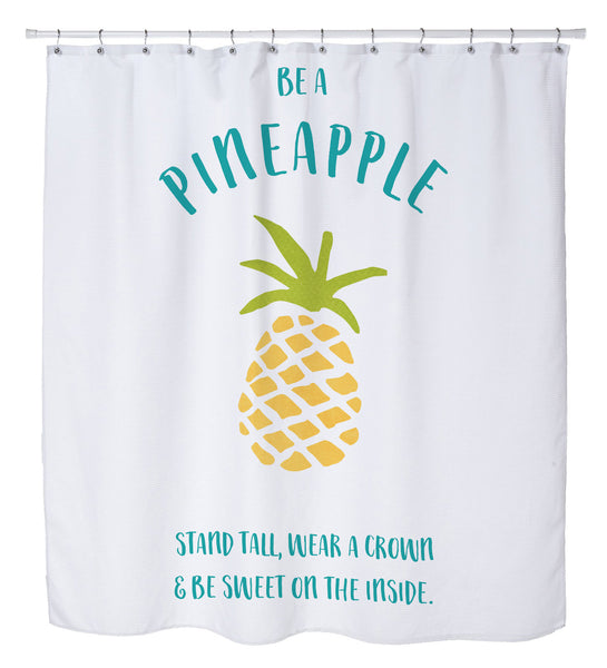 Be A Pineapple Shower Curtain by Cheryl Overton
