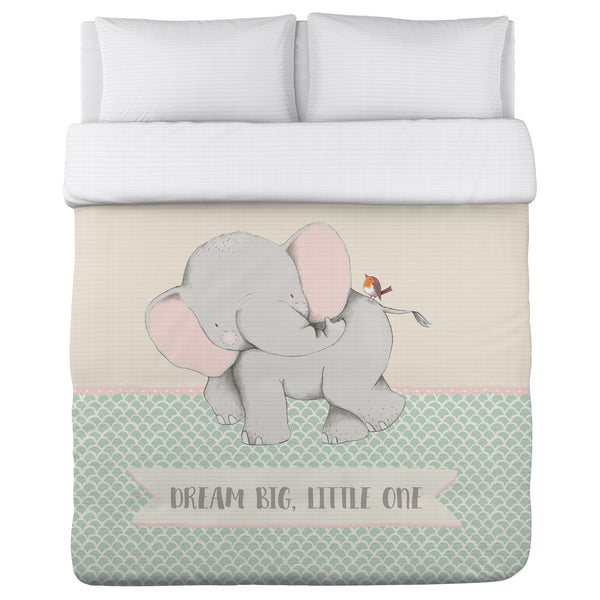 Dream Big Little One Scallop Lightweight Duvet by Cheryl Overton