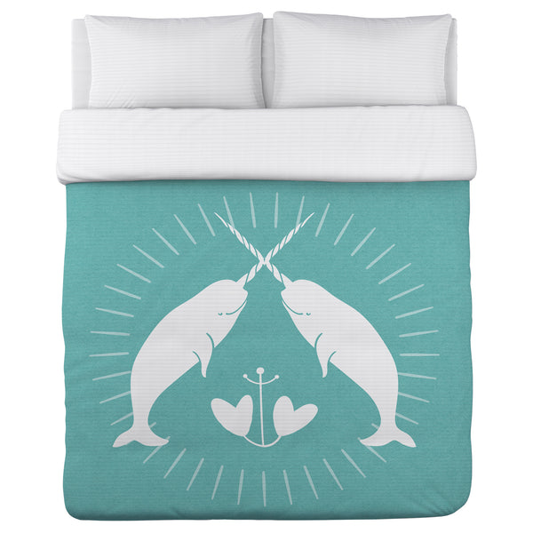 Narwhal Solid Lightweight Duvet by Cheryl Overton