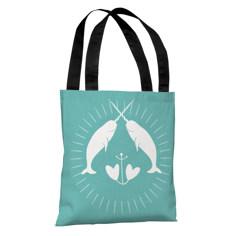 Narwhal Solid Tote Bag by Cheryl Overton