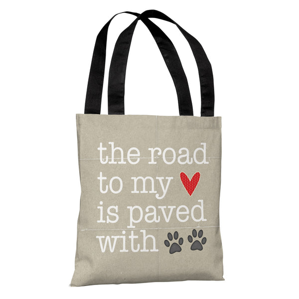 Paved With Pawprints Tote Bag by Cheryl Overton