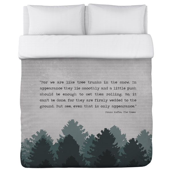 The Trees Lightweight Duvet by Cheryl Overton