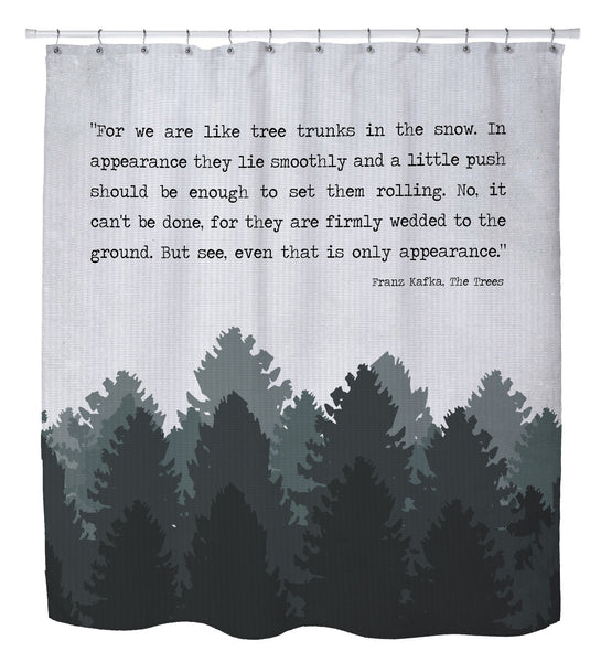 The Trees Shower Curtain by Cheryl Overton
