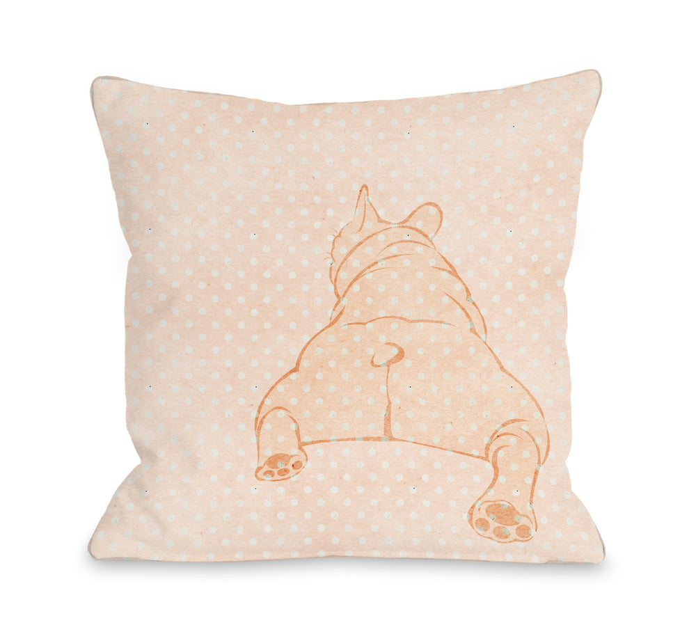 Lazy Dog - Pink 18x18 Pillow by OBC