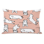 Sleepy Puppies - Peach Multi 14x20 Pillow by OBC