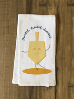 Dreidel Dancer - Gold Tea Towel by OBC