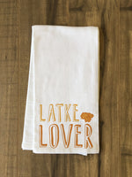 Latke Lover - Gold Tea Towel by OBC