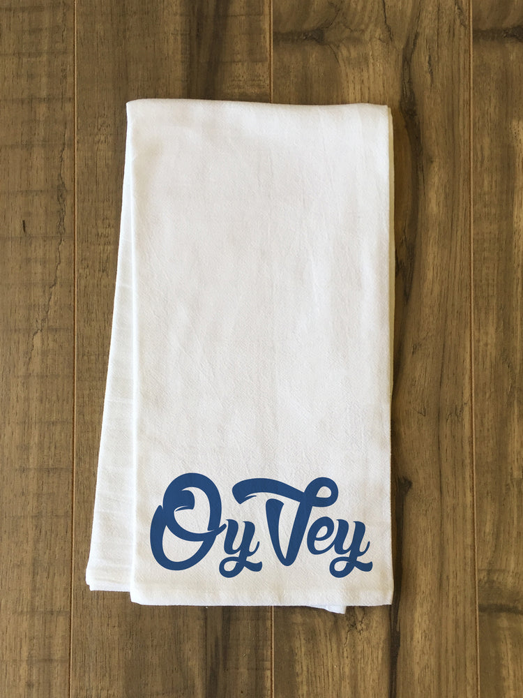 Oy Vey - Blue Tea Towel by OBC