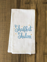 Shabbat Shalom Stars - Blue Tea Towel by OBC