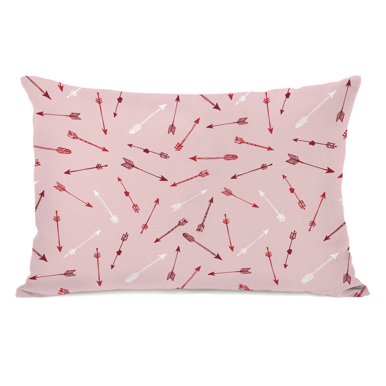 Arrow Pattern - Pink 14x20 Pillow by OBC