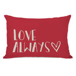 Love Always - Red 14x20 Pillow by OBC